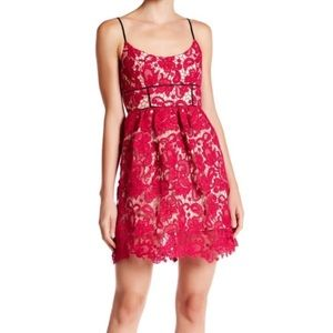 ABS red lace dress